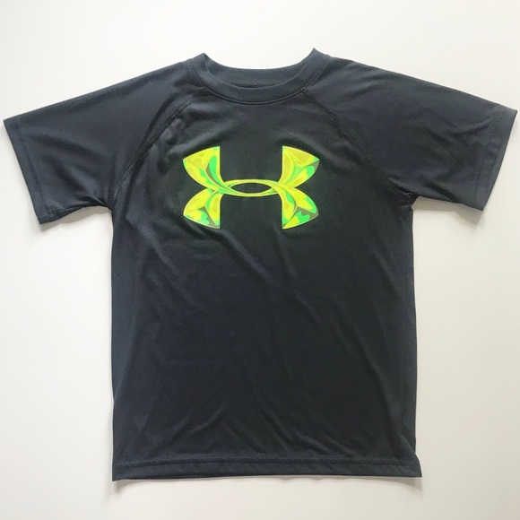 Under Armour Other - Boys Under Armour Grey Green Shirt Size Small EUC